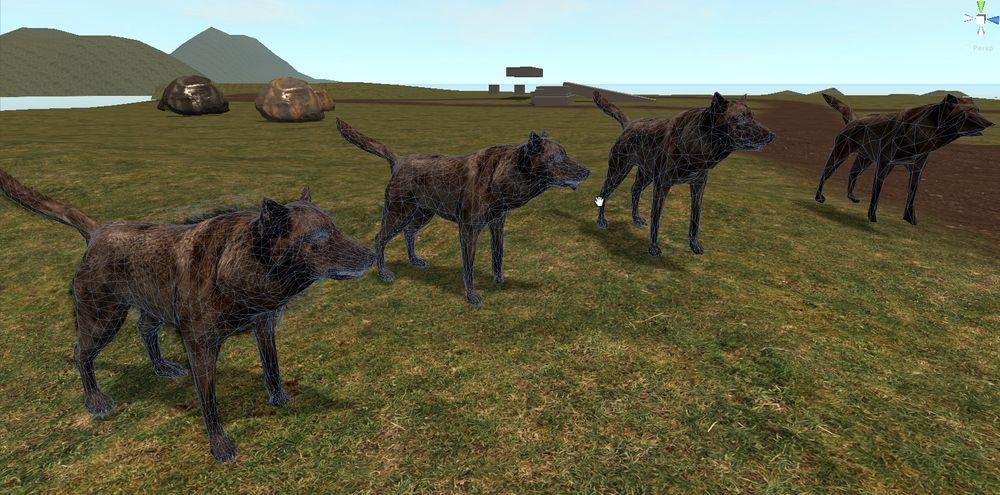 новые LOD животных в игре rust