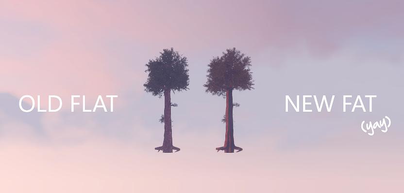 Деревья превращаются в 3D спрайты