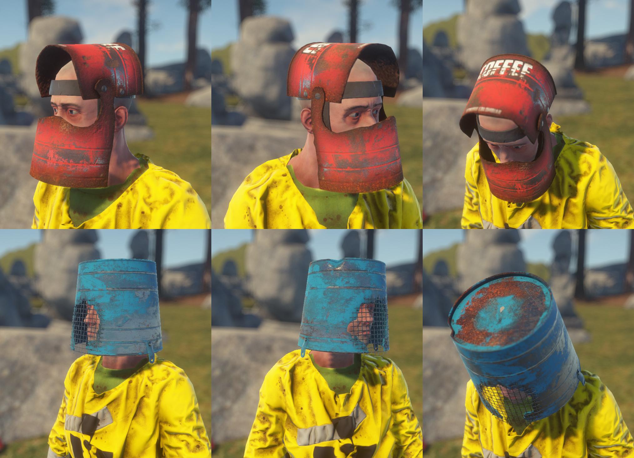 Шлемы в действии