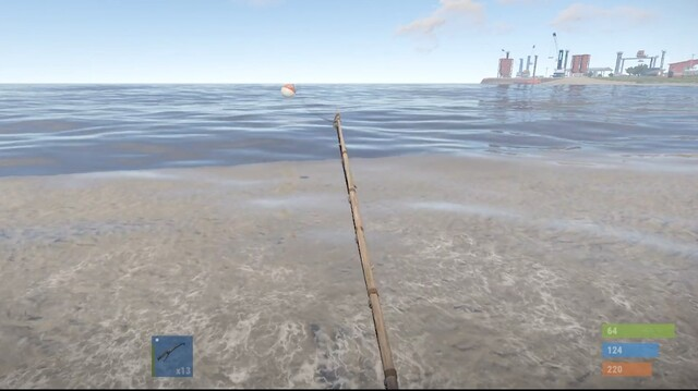 как ловить рыбу rust