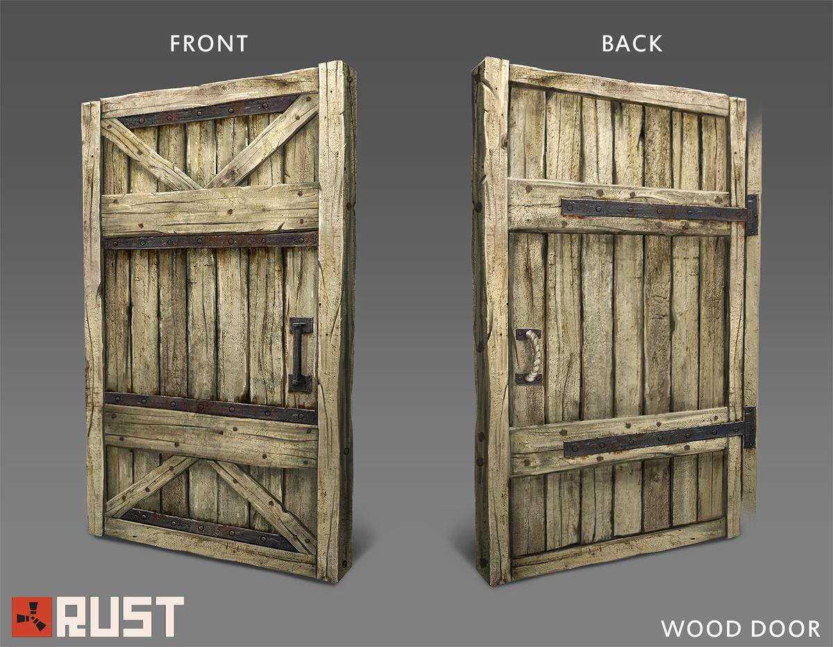 Финальная версия деревянной двери в Rust