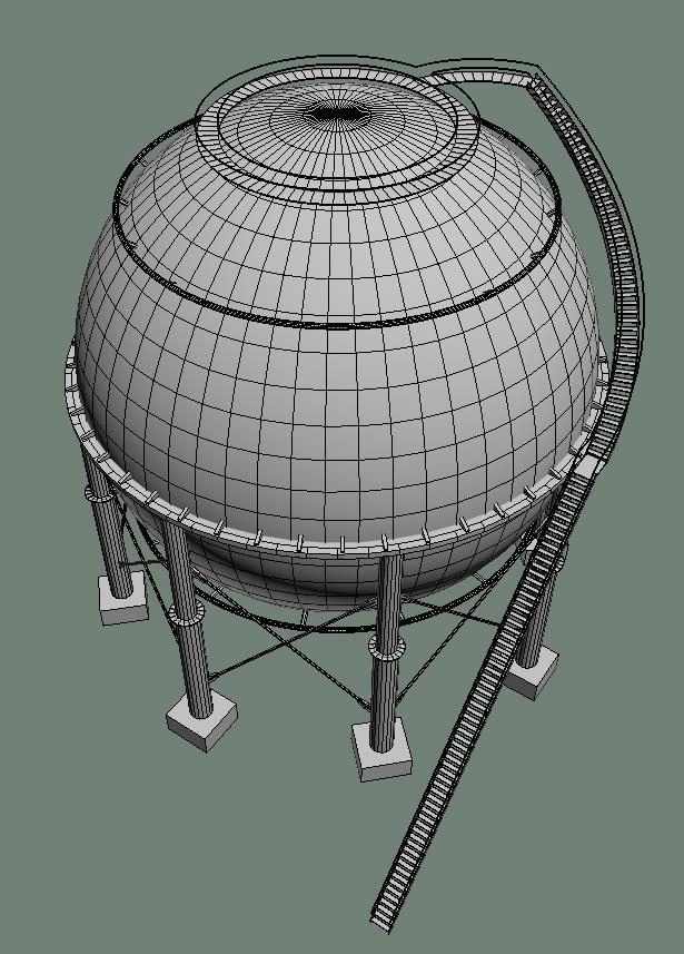 Модель сферического танкера