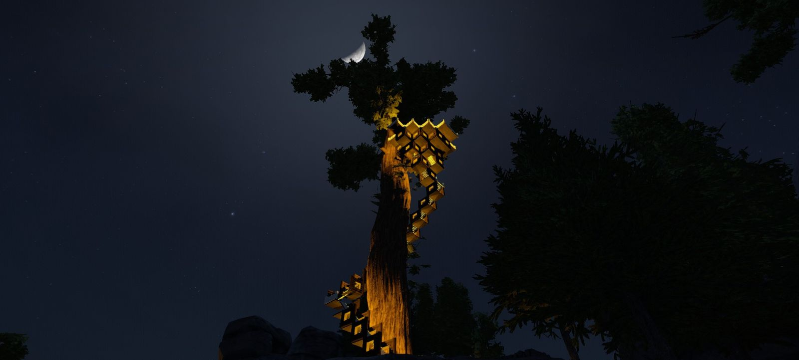 Деревяшко в ночи