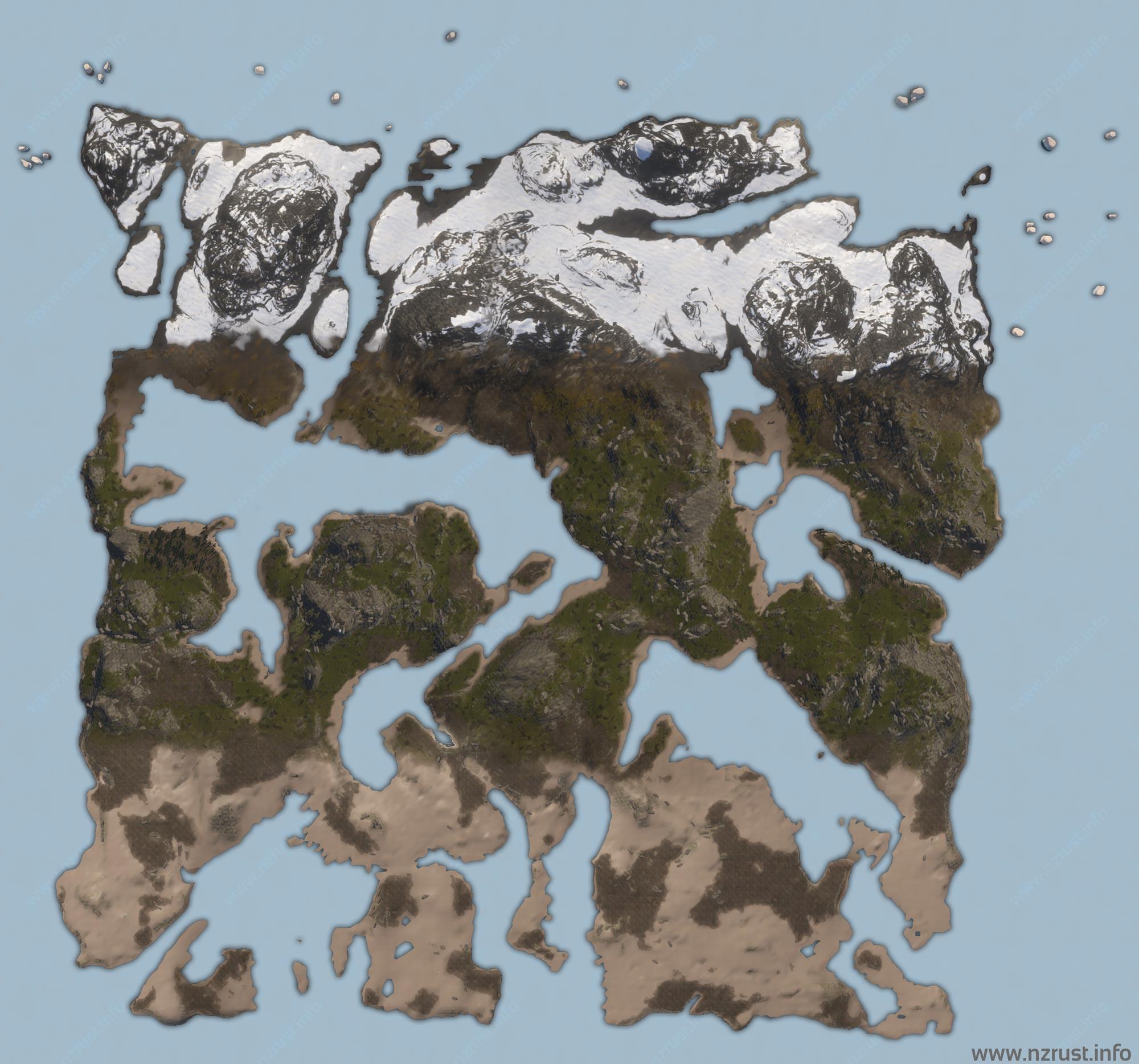 Карта одного из серверов Rust