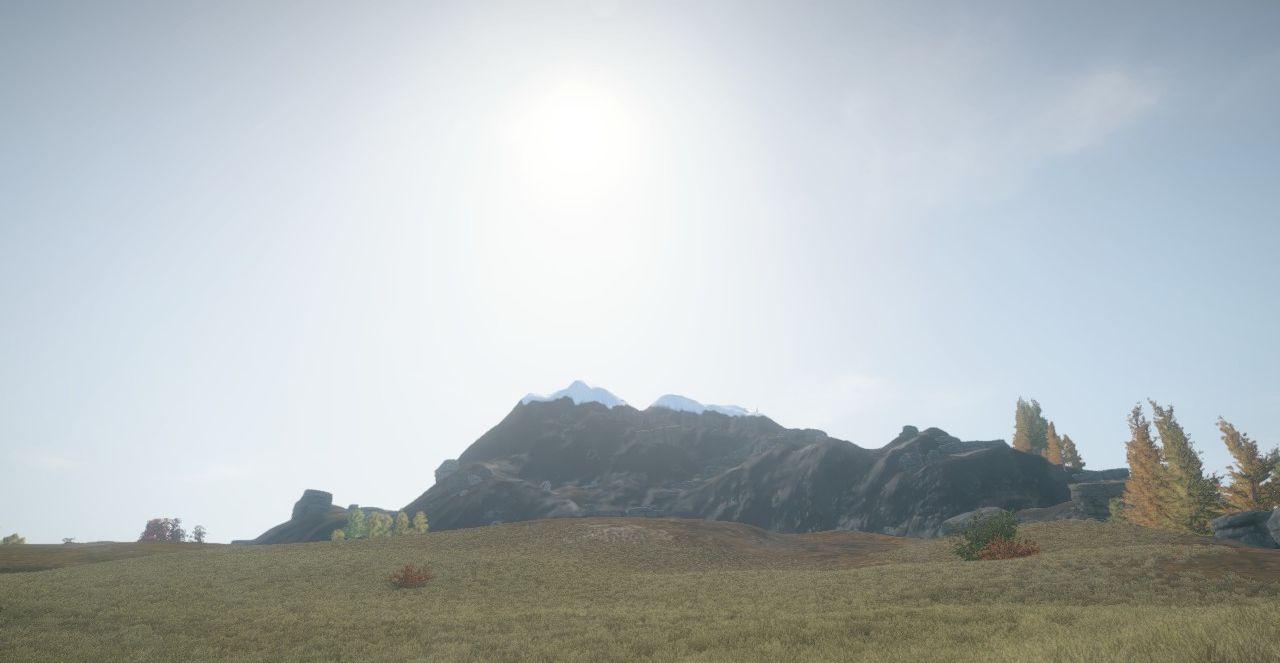 Гора со снежным пиком