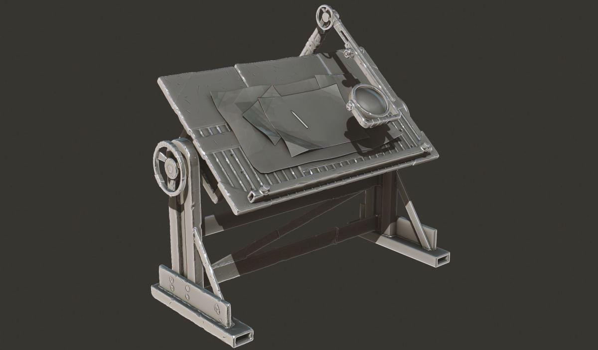 Модель научно-исследовательского стола