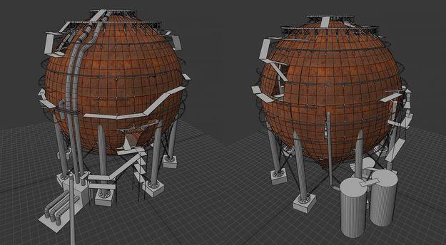 Доработка сферического танкера