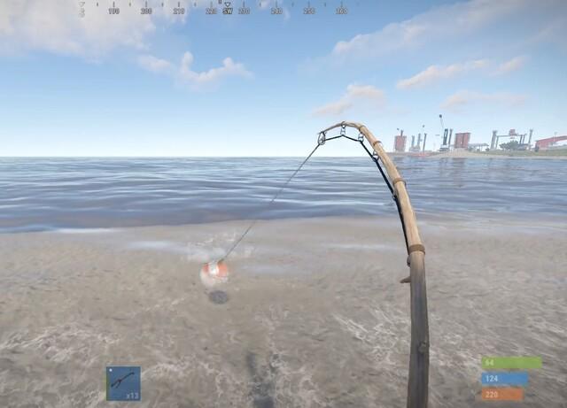 рыбалка в игре раст